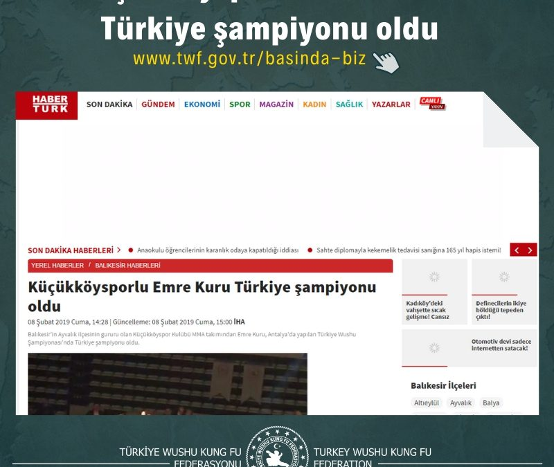 Küçükköysporlu Emre Kuru Türkiye şampiyonu oldu